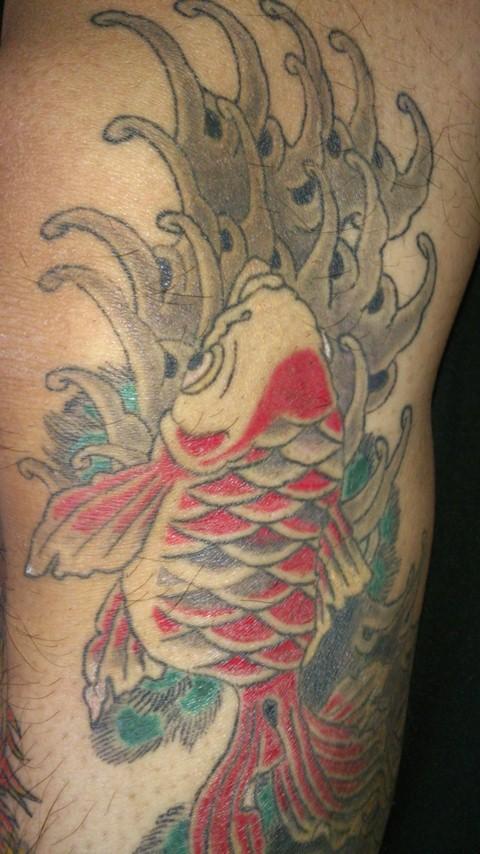 金魚 タトゥー