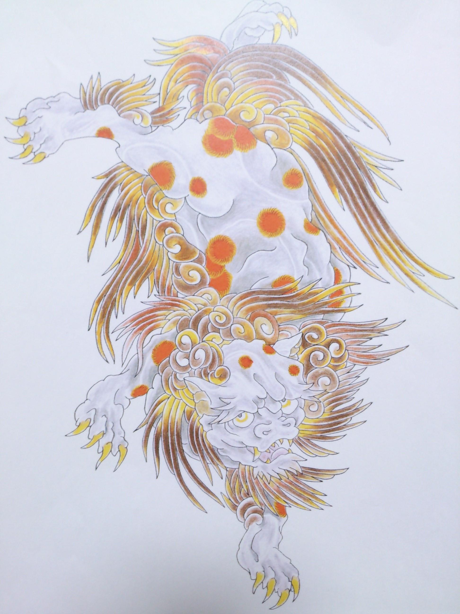 唐獅子 タトゥー