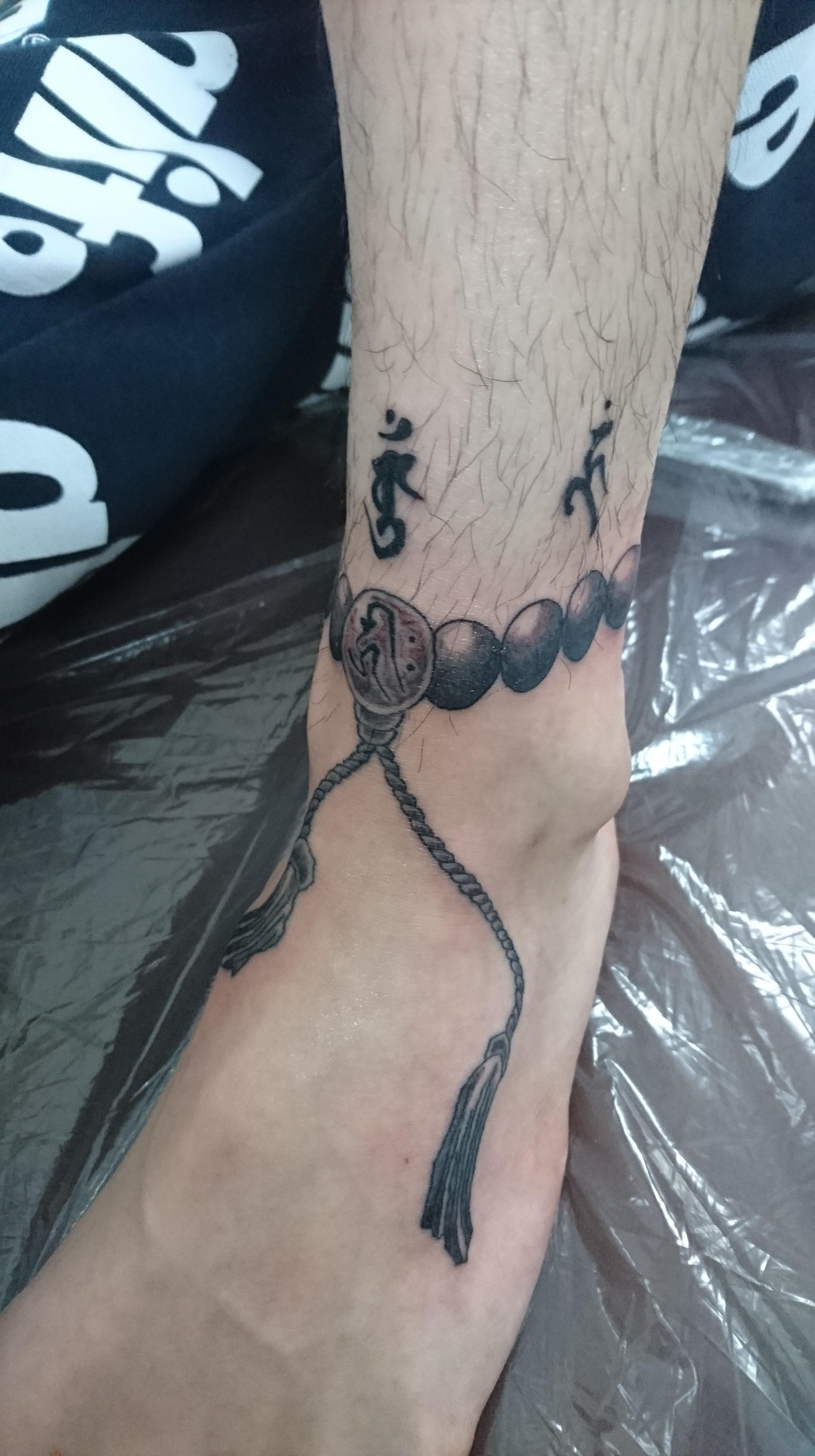 数珠・梵字 タトゥー
