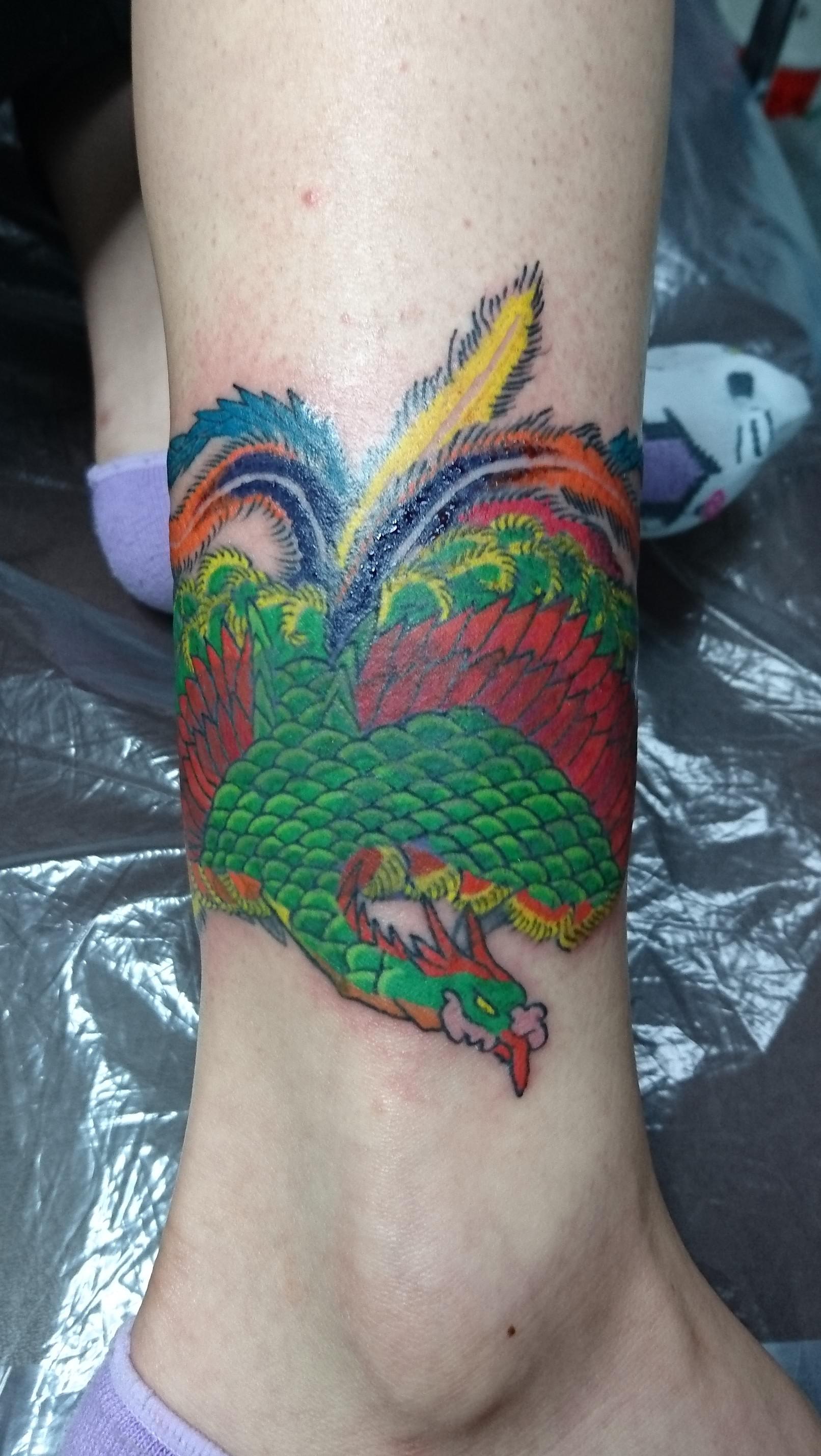 鳳凰(カバーアップ) タトゥー