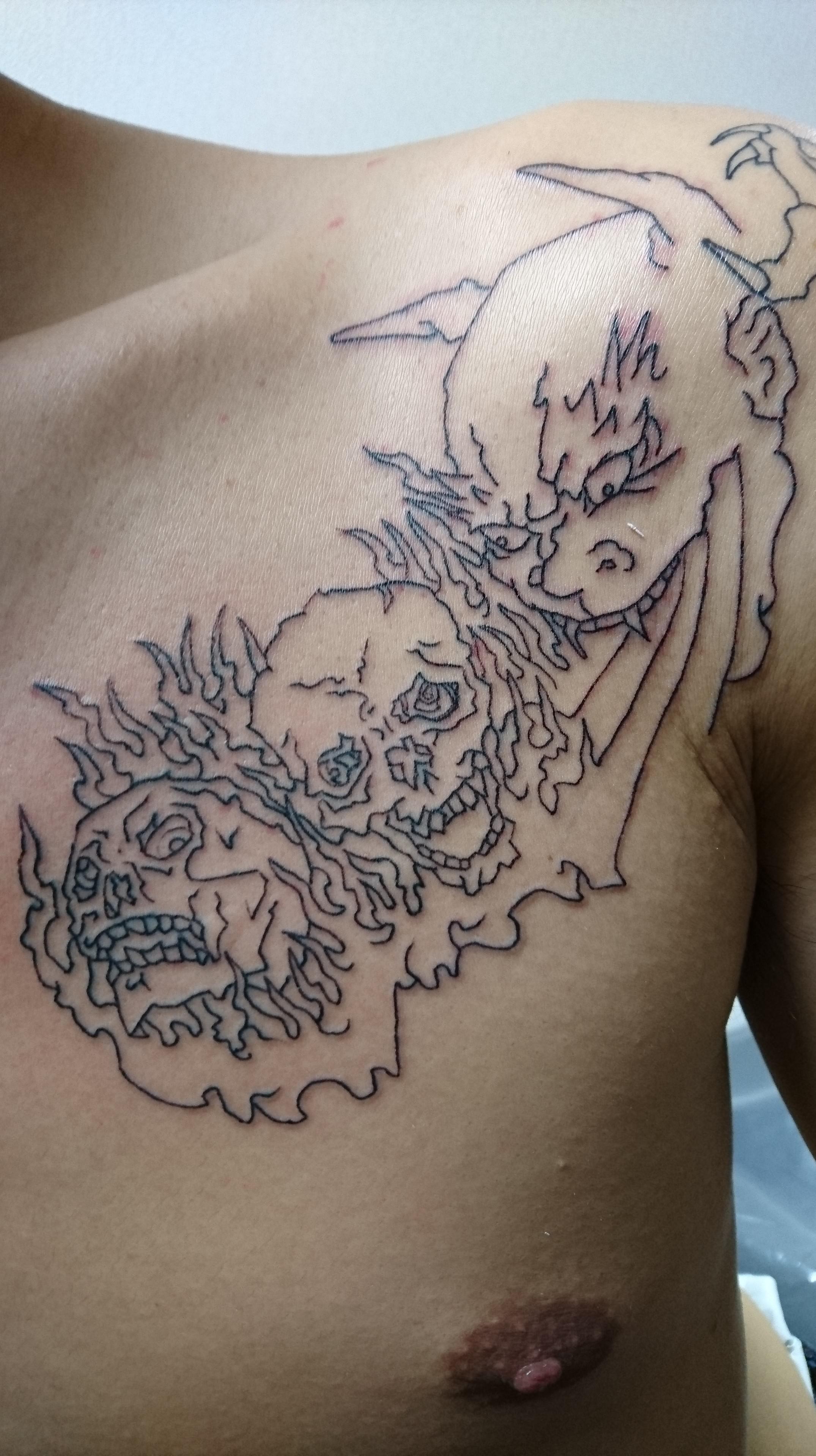 骸骨 タトゥー