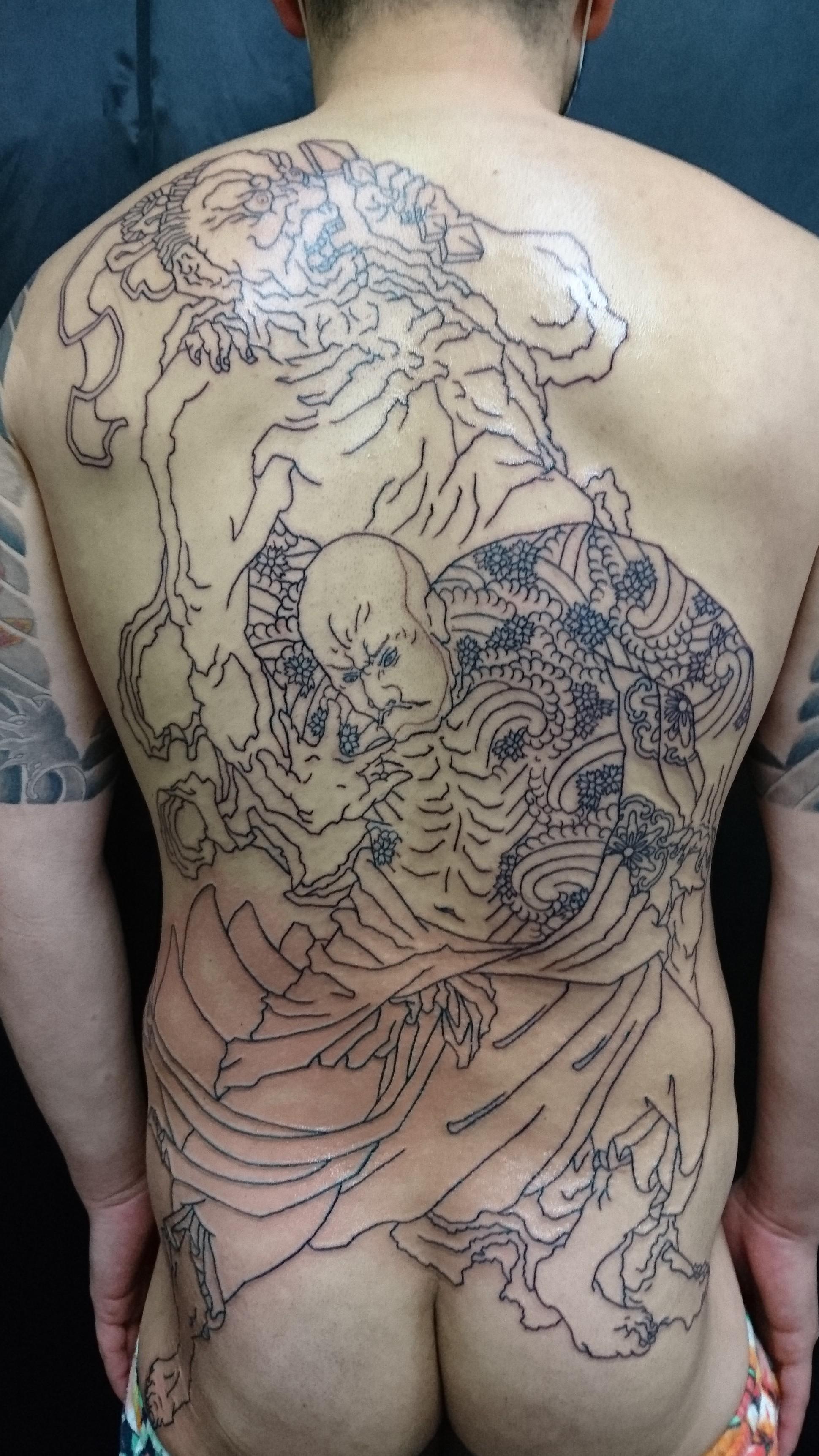 花和尚魯智深・金剛力士像 タトゥー